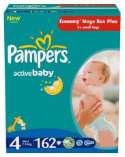 Подгузники Pampers Active Baby 4 (7-14 кг) 70 шт